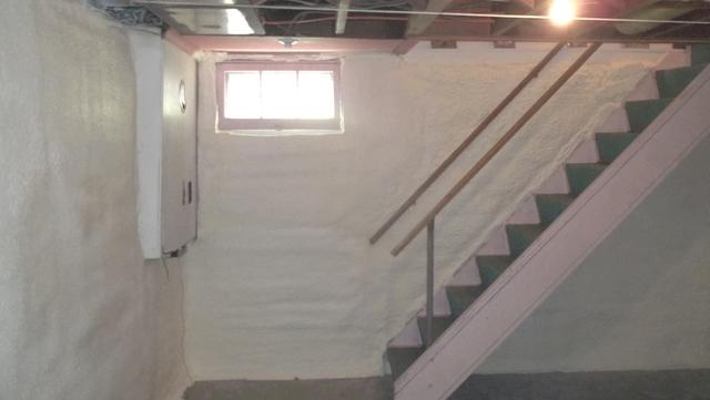 Spray Foam Insulation on Basement Walls, Ouaquaga, NY