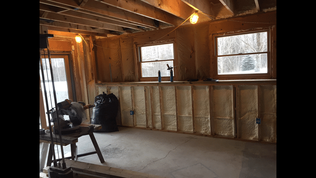 Foam Insulation Applied to Exterior Walls in Port Crane, NY