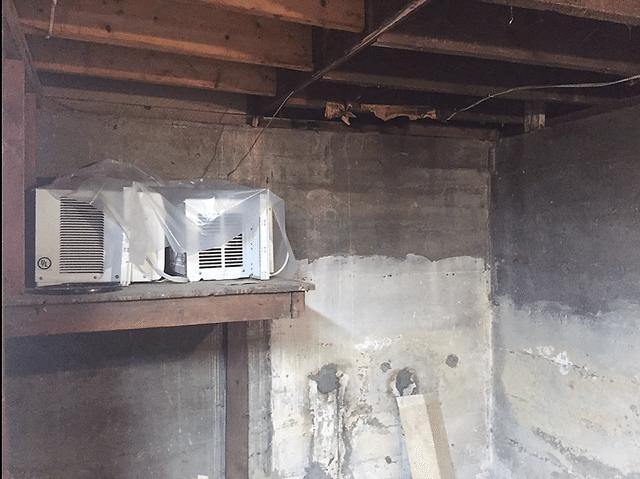 Binghamton, NY Spray Foaming the Rim Joist - Before Photo