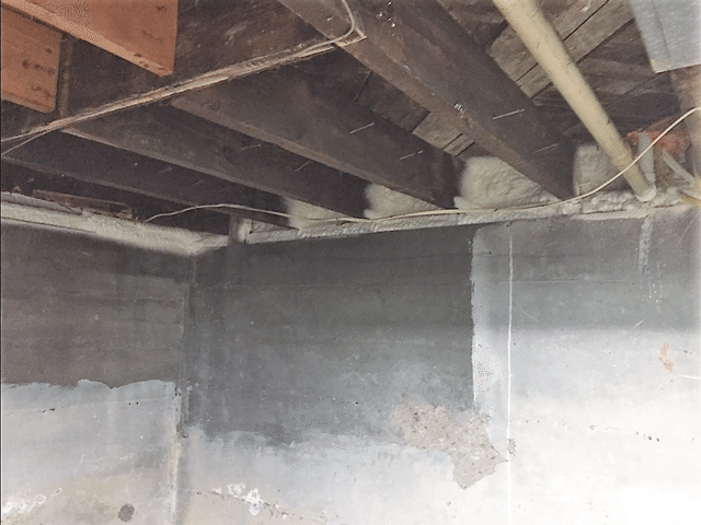 Binghamton, NY Applying Spray Foam Insulation to the Basement Rim Joist - After Photo