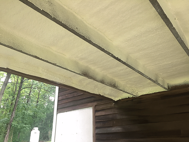 Kirkwood, NY Spray Foaming an Addition Floor / Porch Ceiling