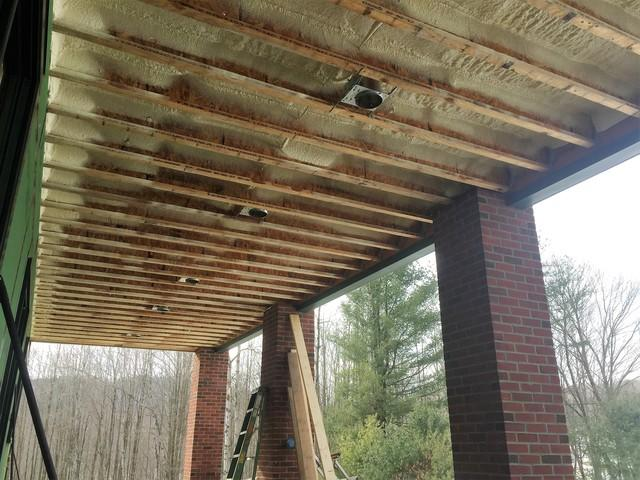 Brackney, PA Porch Ceiling with Spray Foam