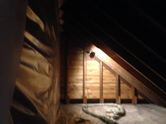Attic Insulated with Closed Cell Spray Foam in Whitney Point, NY