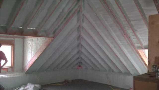 Spray Foam Installed In Uninsulated Attic in Binghamton, NY