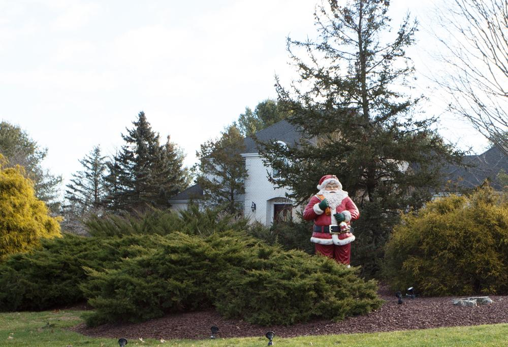 Santa adds fun to this Freehold, NJ home that we decorated - Before Photo