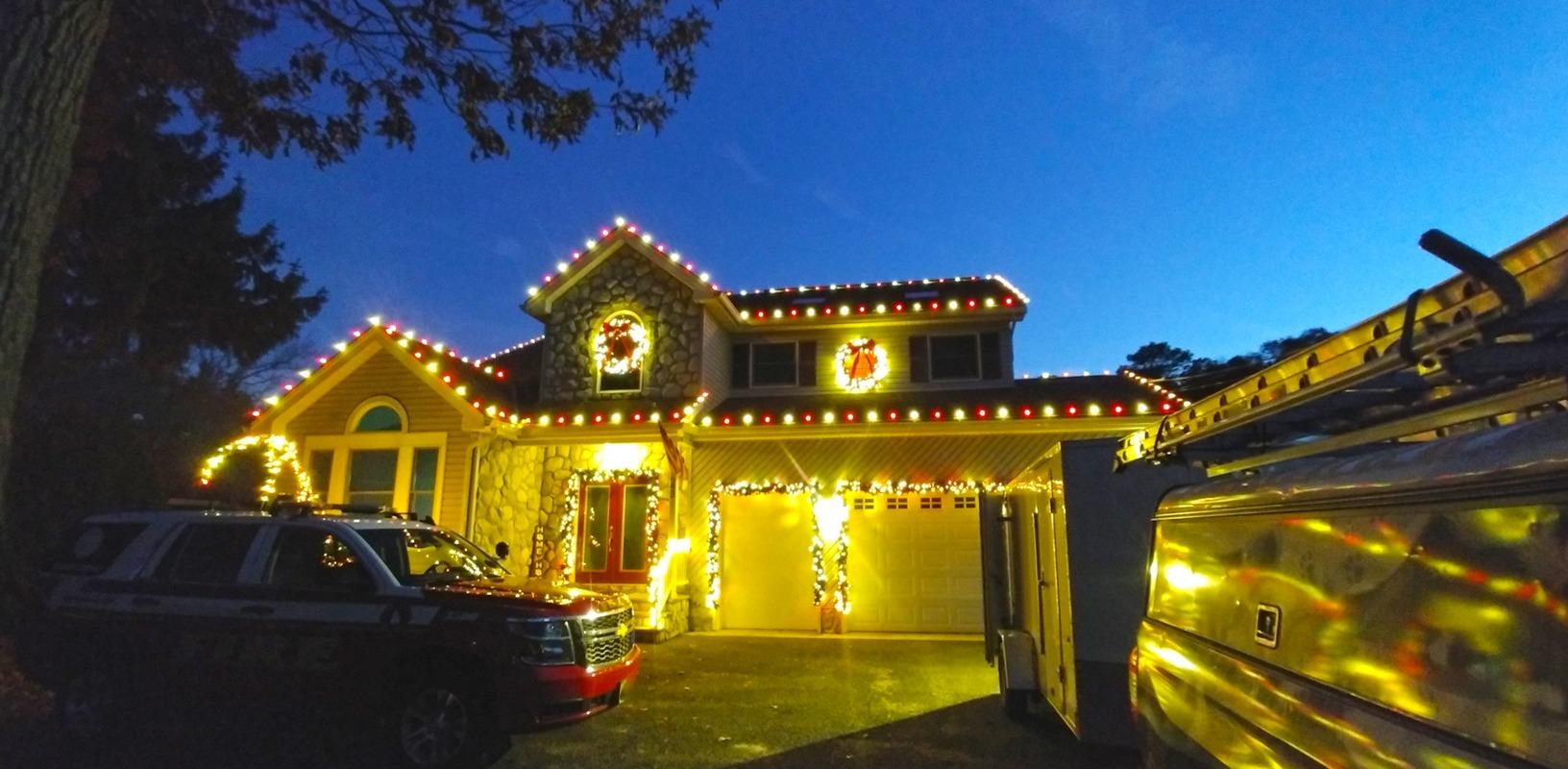 Professional Holiday Lighting in Farmingdale, NJ - After Photo
