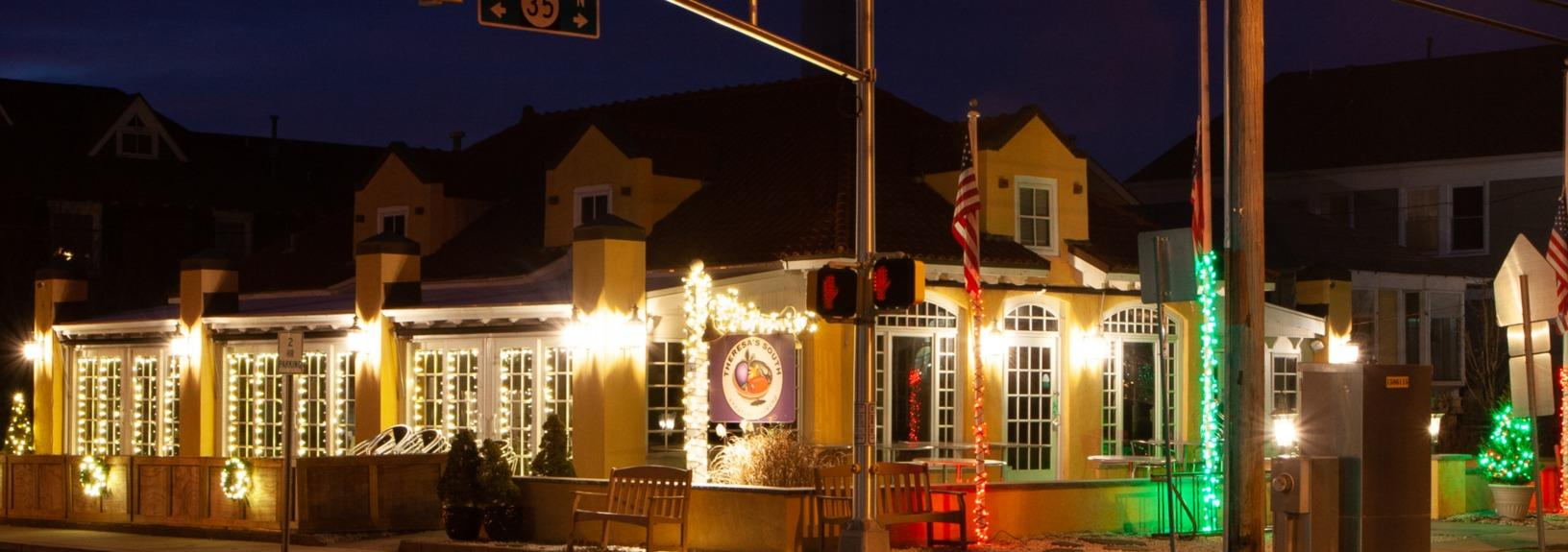 Theresa's South in Bay Head, NJ Holiday Lights - After Photo