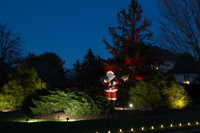 Santa adds fun to this Freehold, NJ home that we decorated
