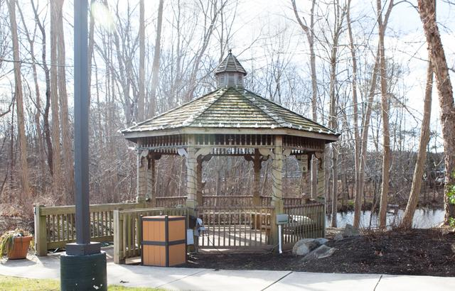 Bright Lights Brighten this Gazebo in Millstone Township, NJ - Before Photo