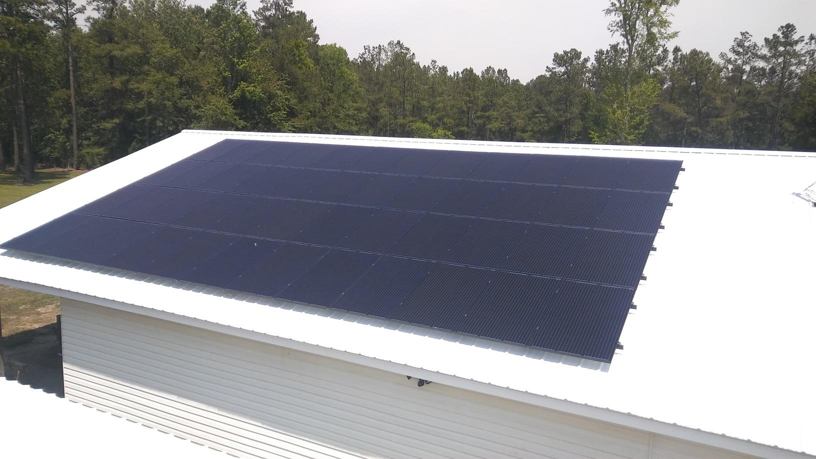 Before and After Solar Installation in Loris, SC - After Photo