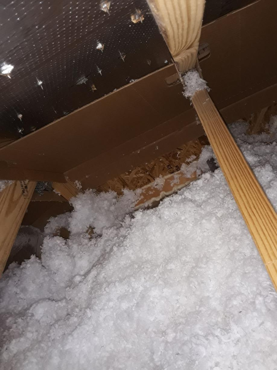 Attic Spray Form Insulation - After Photo