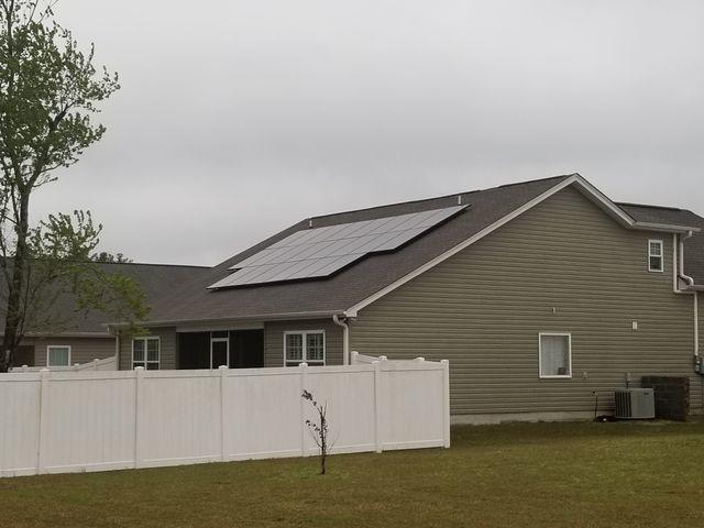 Sunlight energy through Solar panels, Hilton Head Island, Beaufort, SC, 29910
