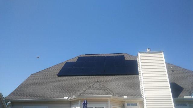 Sunlight energy through Solar panels, Port Royal, SC, 29935