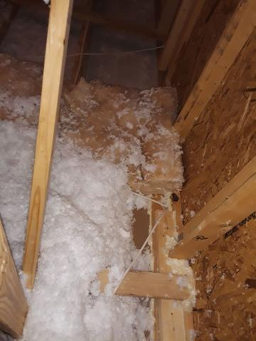 Attic Spray Form Insulation - Before Photo