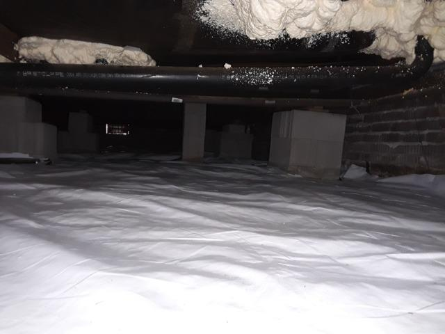 Crawl Space Insulation - After Photo