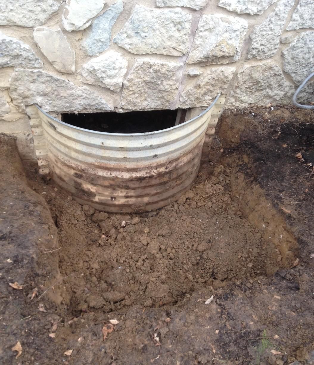 Exterior Crawl Space Access Makeover -Indianapolis, IN - Before Photo