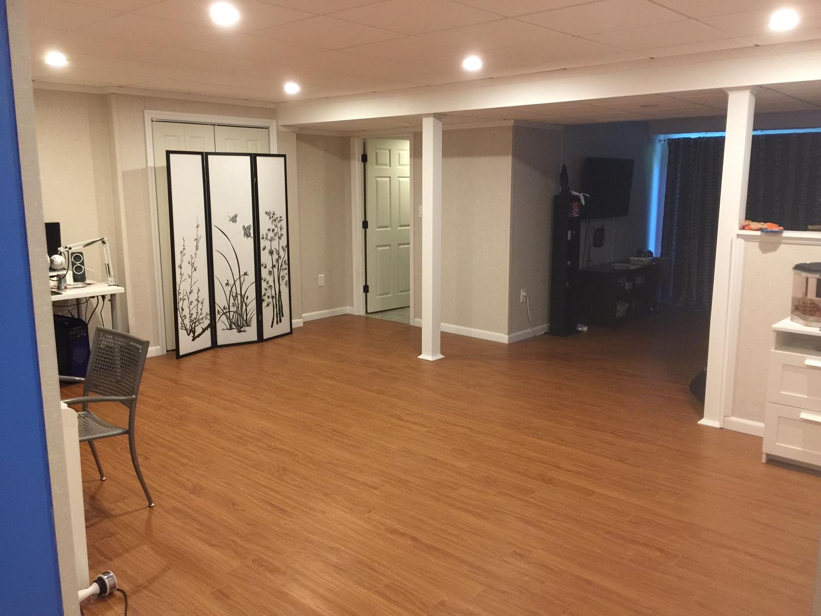 Finished Basement in Windham - After Photo