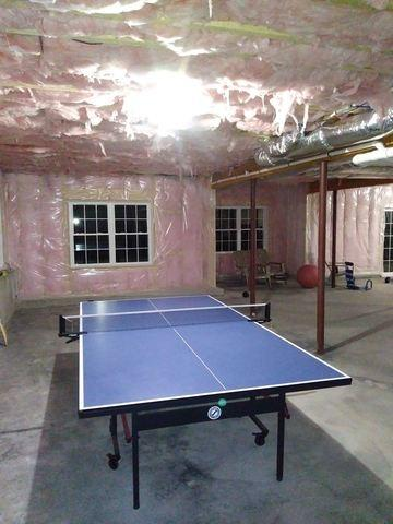 A Gorgeous Basement Bar and Theater in Littleton, MA - Before Photo