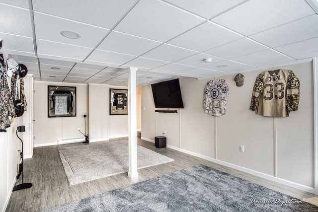 A Comfortable and Functional Finished Basement in Southern NH