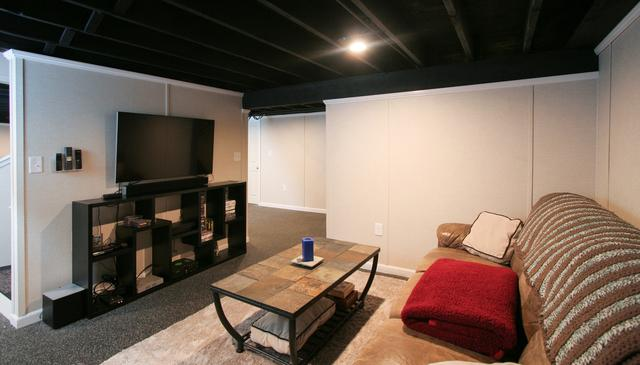 An Entertainment Area and Home Gym in Dracut, MA