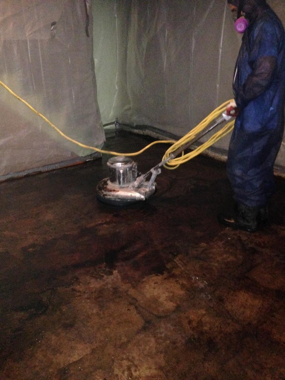 Before & After: Mastic Removal - Before Photo