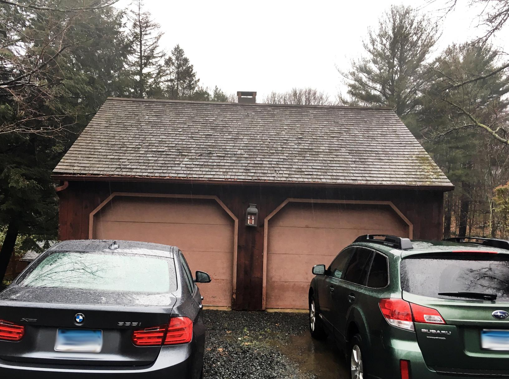 Garage Roof Replacement - Before Photo