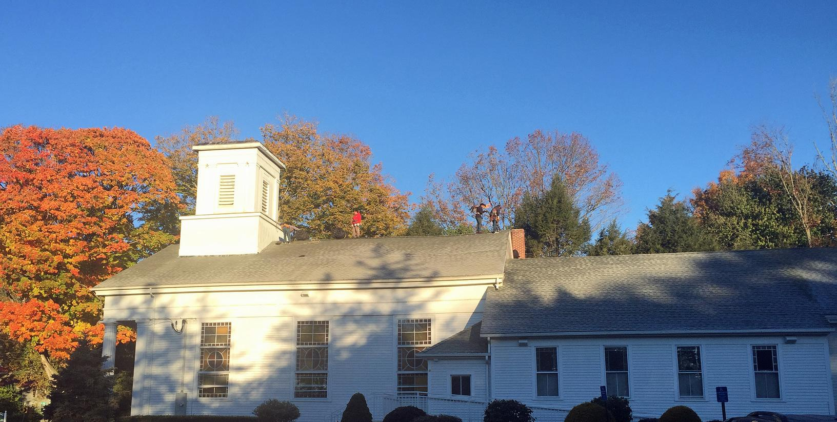 Roofing the Baptist Church of Lebanon, CT - Before Photo