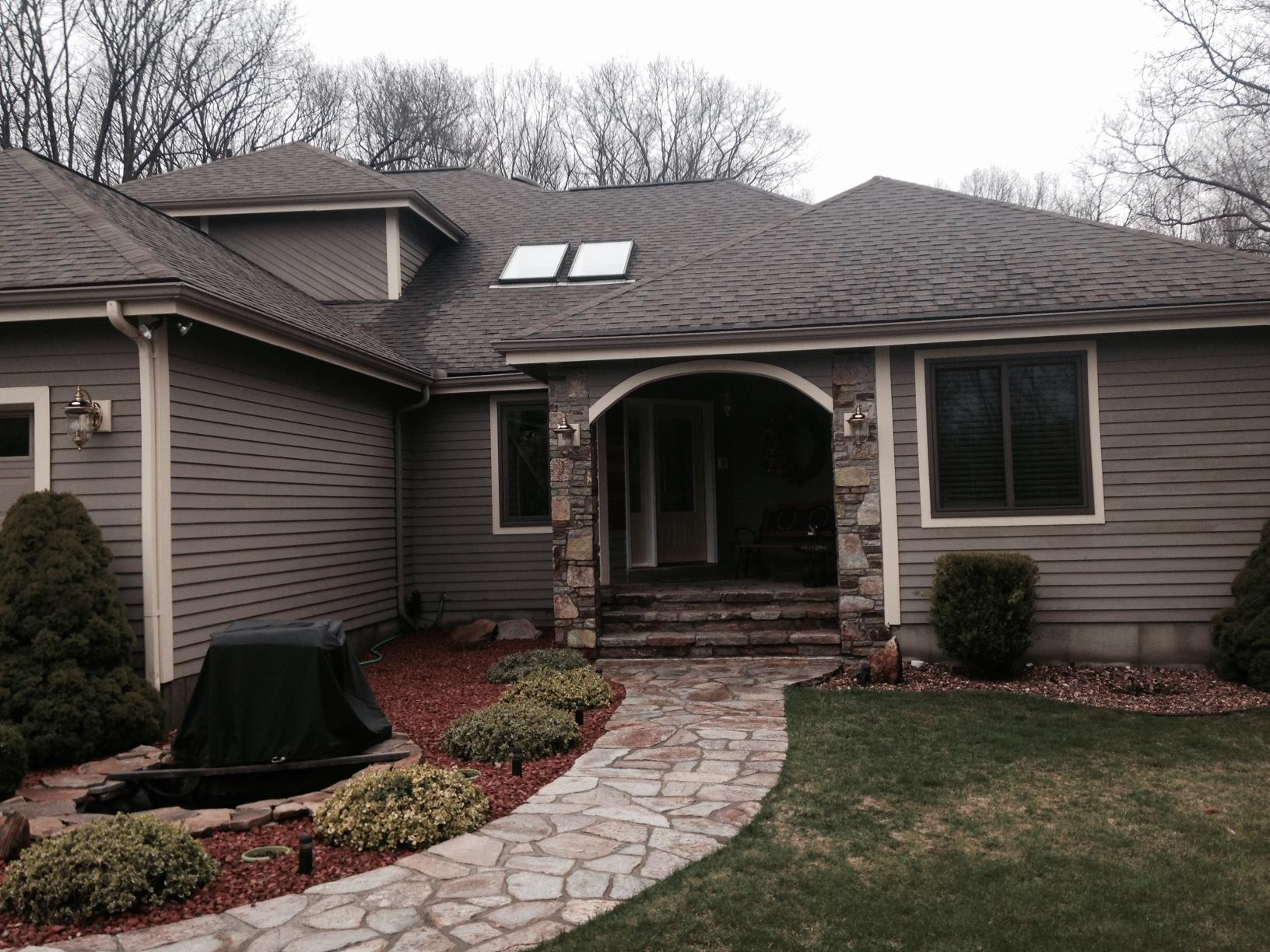 Home and Shed Roof Replacement in Prospect, CT - Before Photo
