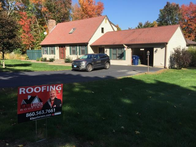 Roof Replacement Project in South Windham, CT