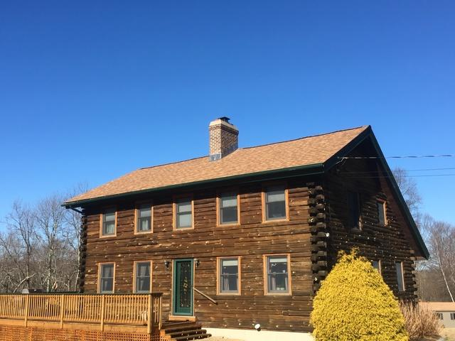 Log Home Roof Replacement in Ellington, CT
