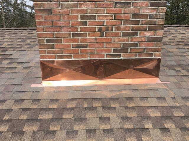 Copper Chimney Flashing in Avon, CT