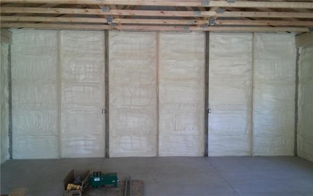 Pole Barn Spray Foam Insulation in Shelby Township Michigan