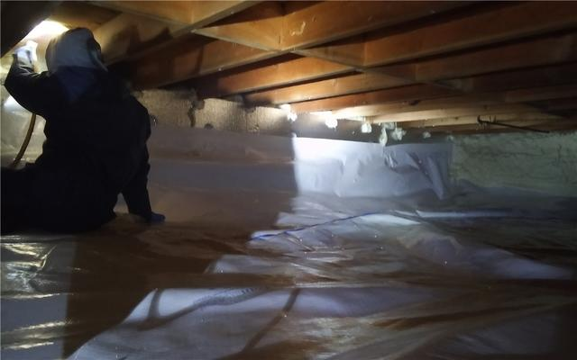 Crawl space insulation in Farmington Hills - After Photo