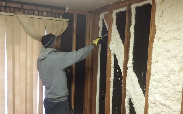 Spray Foam Installation on Romulus, MI Home's Interior Walls