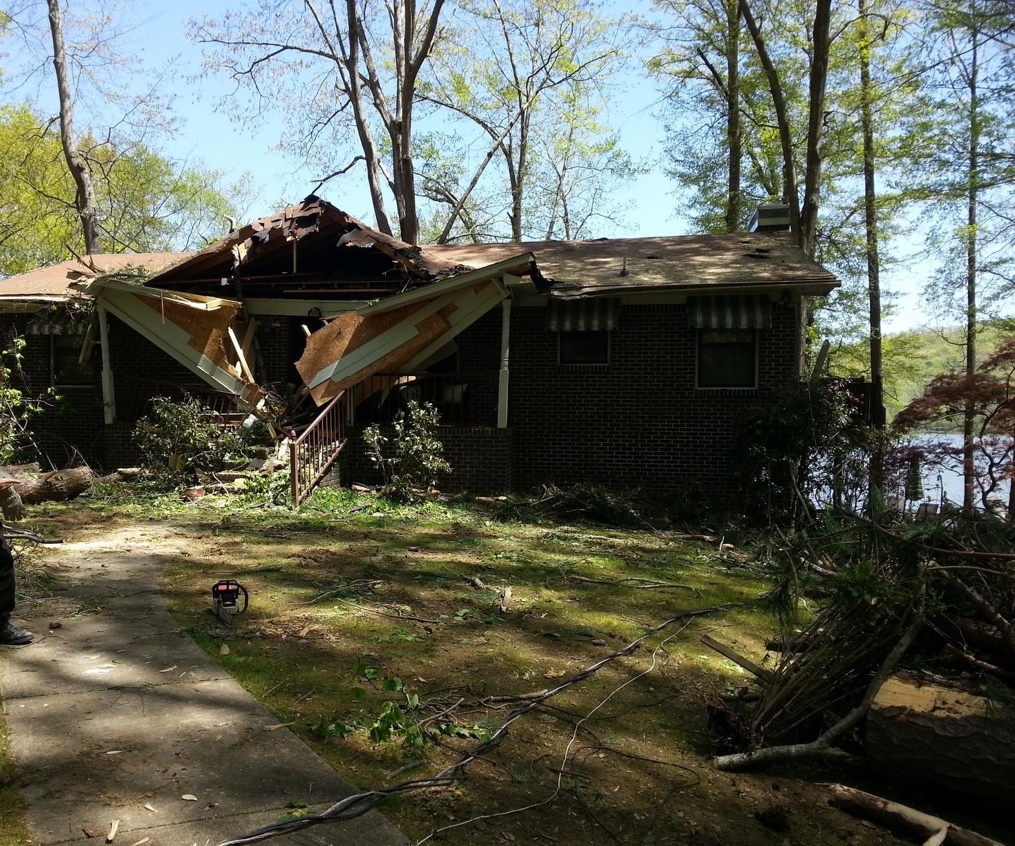 Tree Damage in Pinson, AL - Before Photo