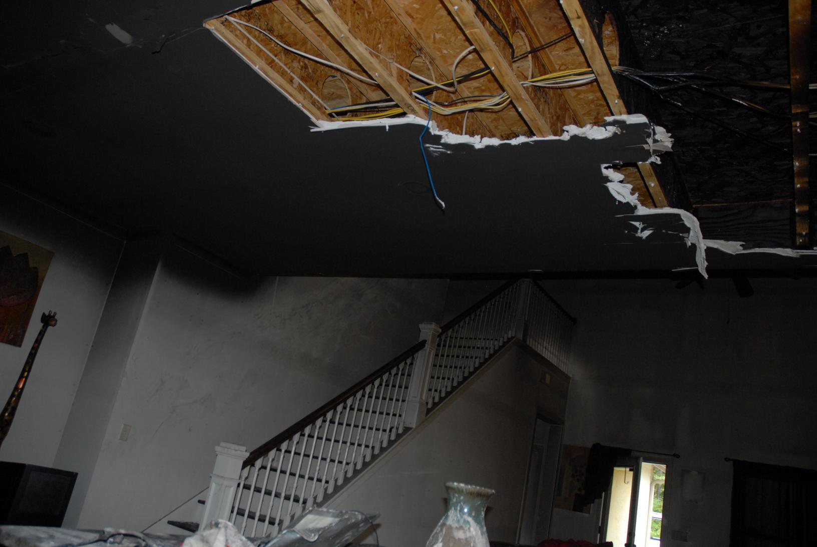 Damage from a house fire, Hoover, AL - Before Photo