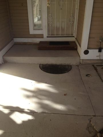 Sunken Front Porch Lifted with PolyLevel in Reno, NV