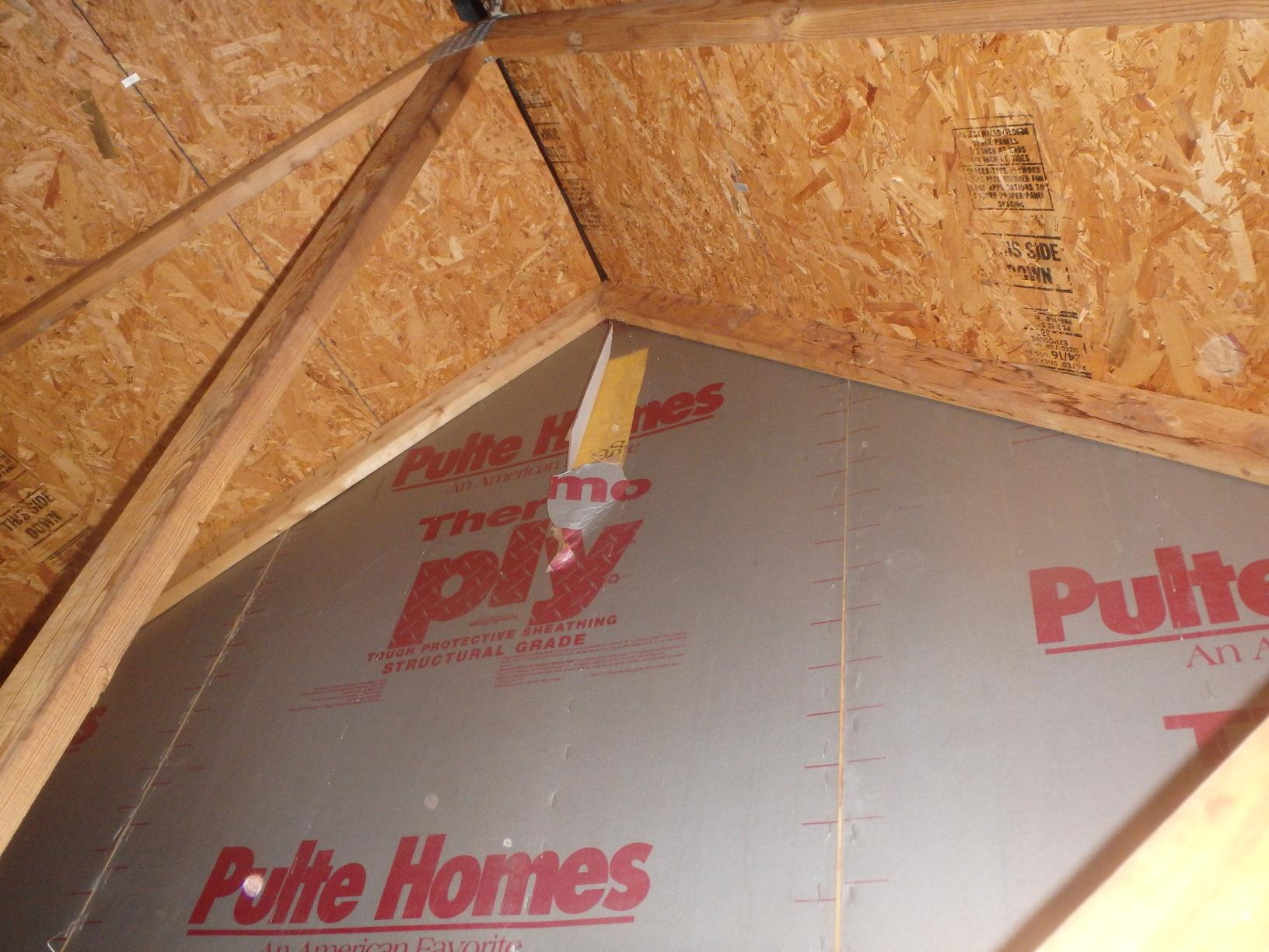 Foam Board Garage Insulation in Lothian, MD - Before Photo