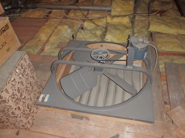 Air Seal Attic Fan in Bethesda, MD - Before Photo