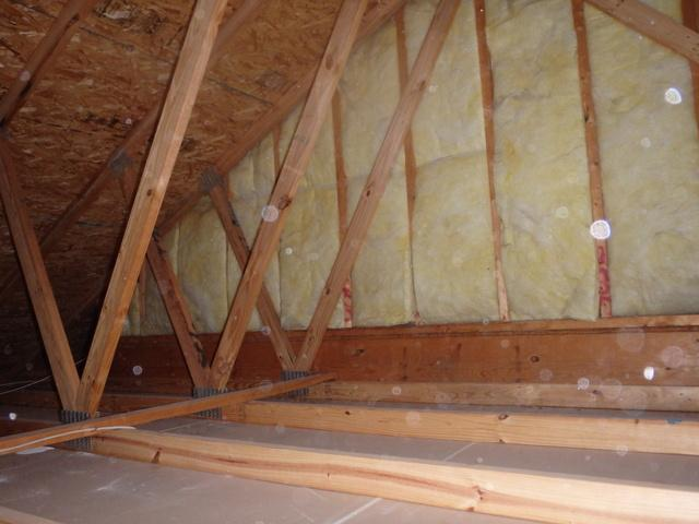 Attic Knee Wall Insulated in Waldorf, MD - Before Photo