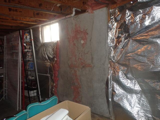 Basement Insulation Repair in Dunkirk, MD - Before Photo