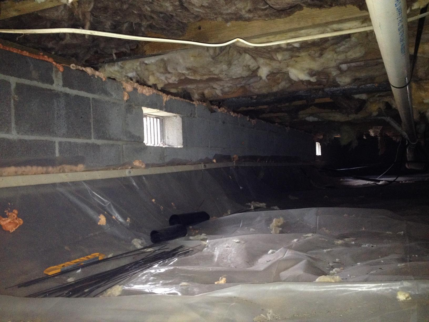 Icky Crawl Space in Potomac, Maryland - After Photo