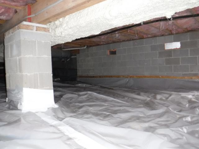 Air Sealed Crawl Space in Millersville, MD