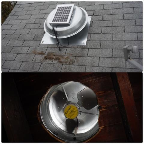 Solar Powered Attic Fan in Washington DC