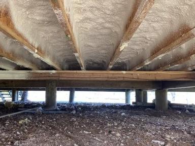 Spray Foam Under Home in Severn, MD