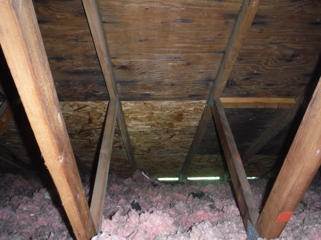 Air Leakage in attic - you could see light through cracks