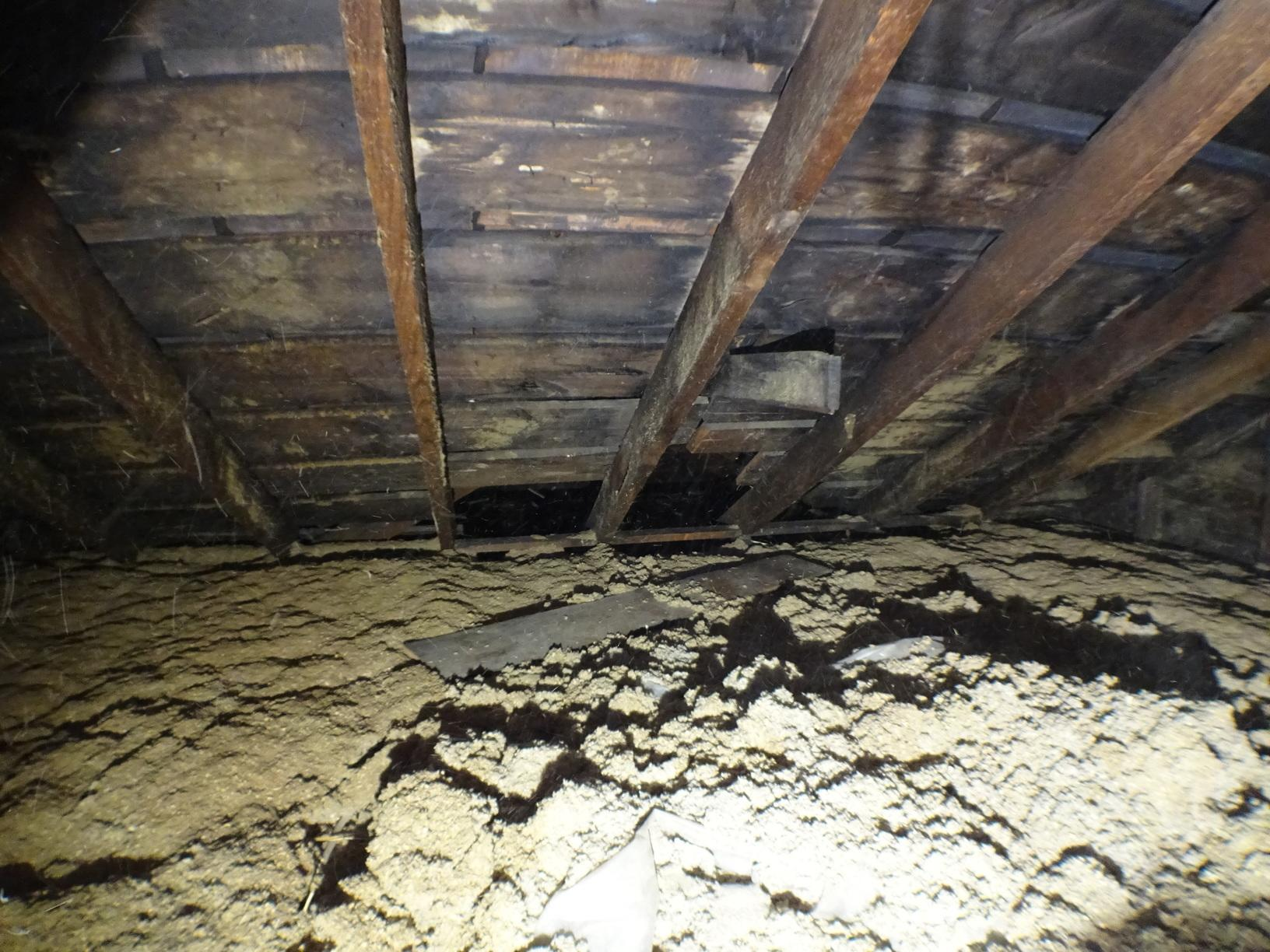 Replacing Dirty Attic Insulation In Pittsburgh, PA - Before Photo