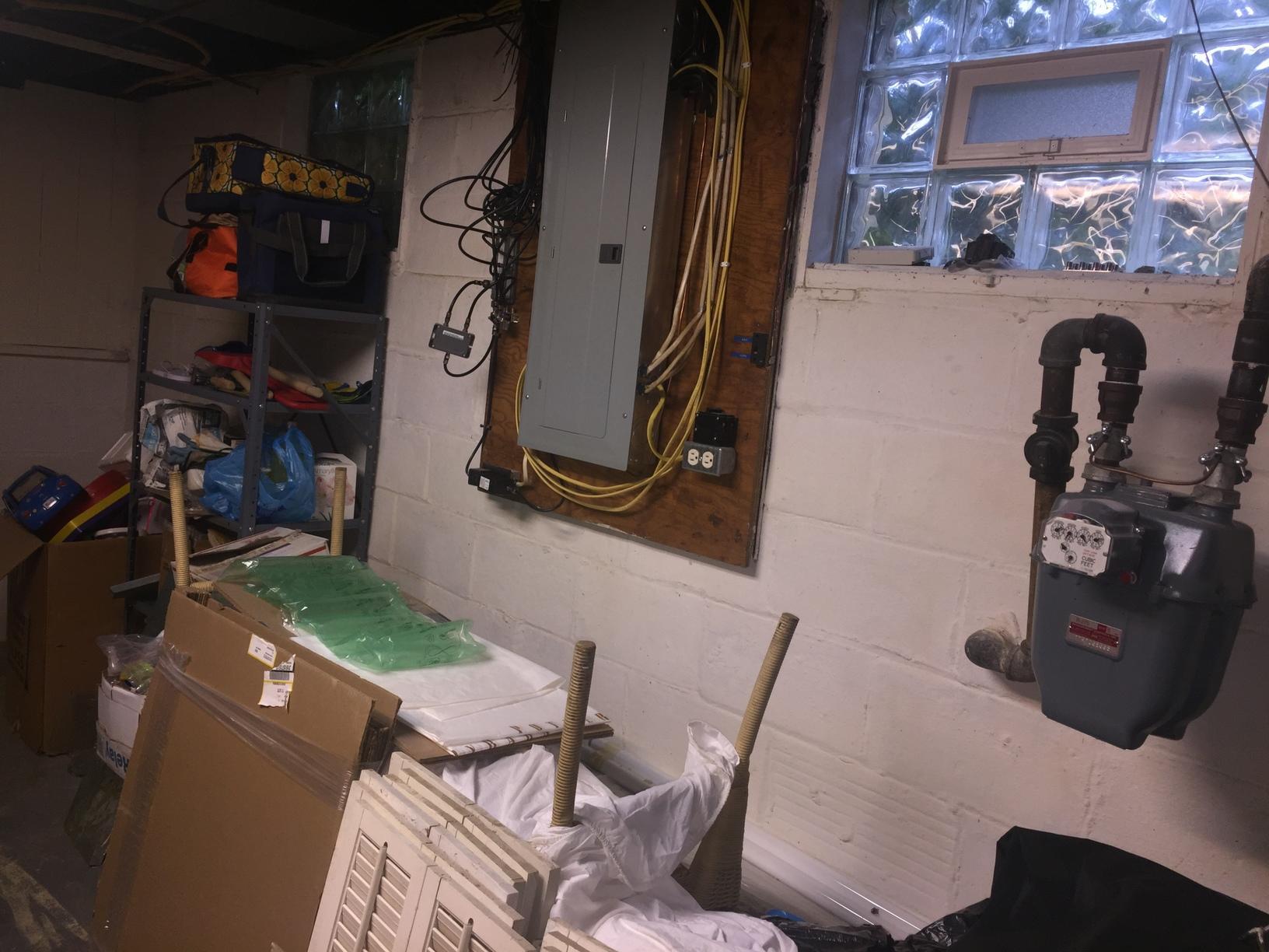 Wheeling WV Basement moisture issues - Before Photo