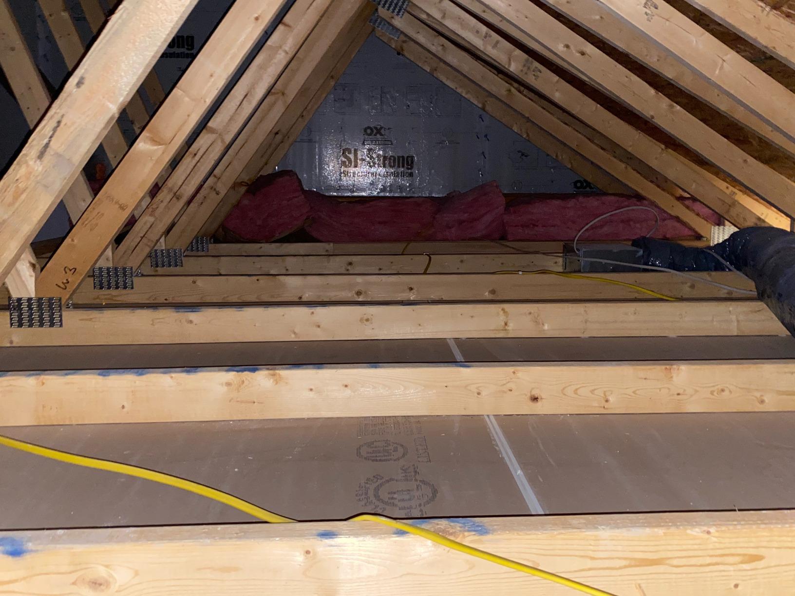 Insulating a new attic in Venetia, PA - Before Photo