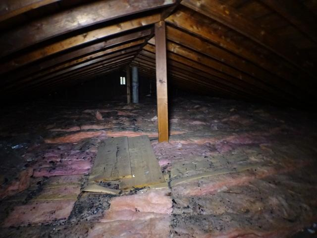 St. Clairsville OH Blown Cellulose Insulation - Before Photo